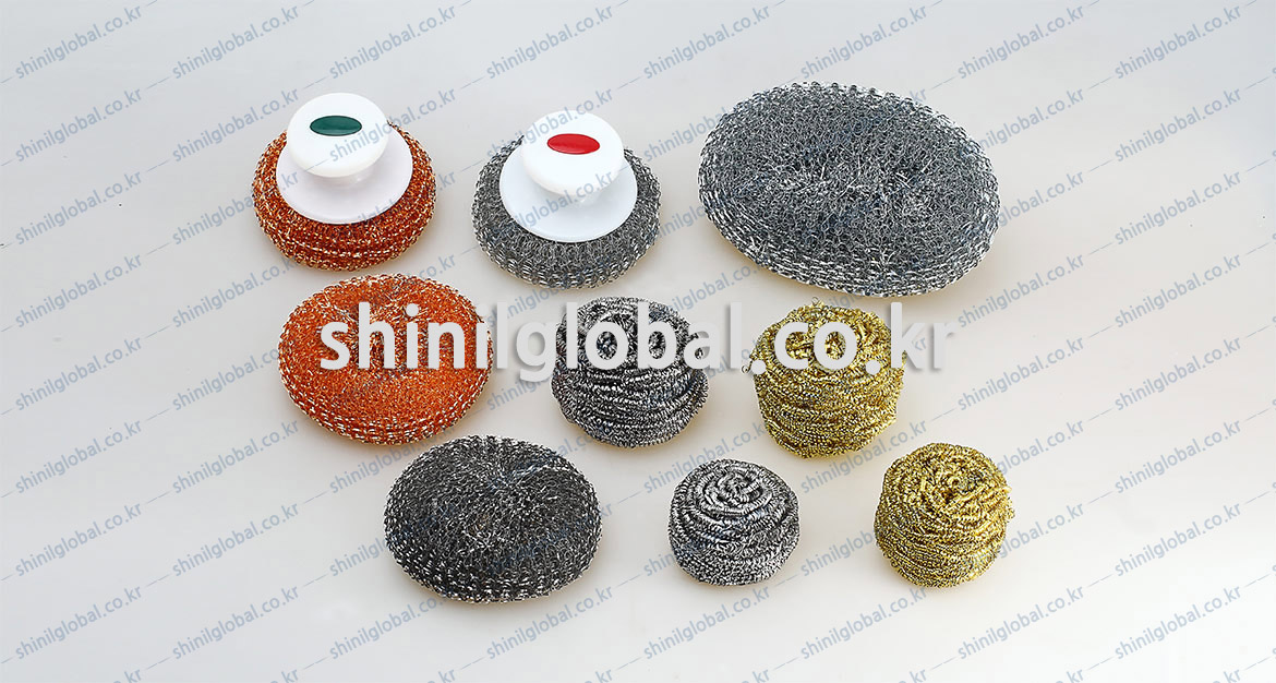 Metal Scrubbers and Kitchen Sponges for dish washing | SHINIL | METAL SCOURER