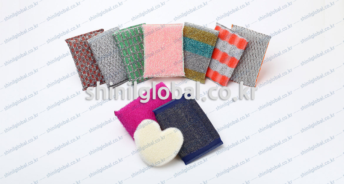 Metal Scrubbers and Kitchen Sponges for dish washing | SHINIL | KITCHEN SPONGE