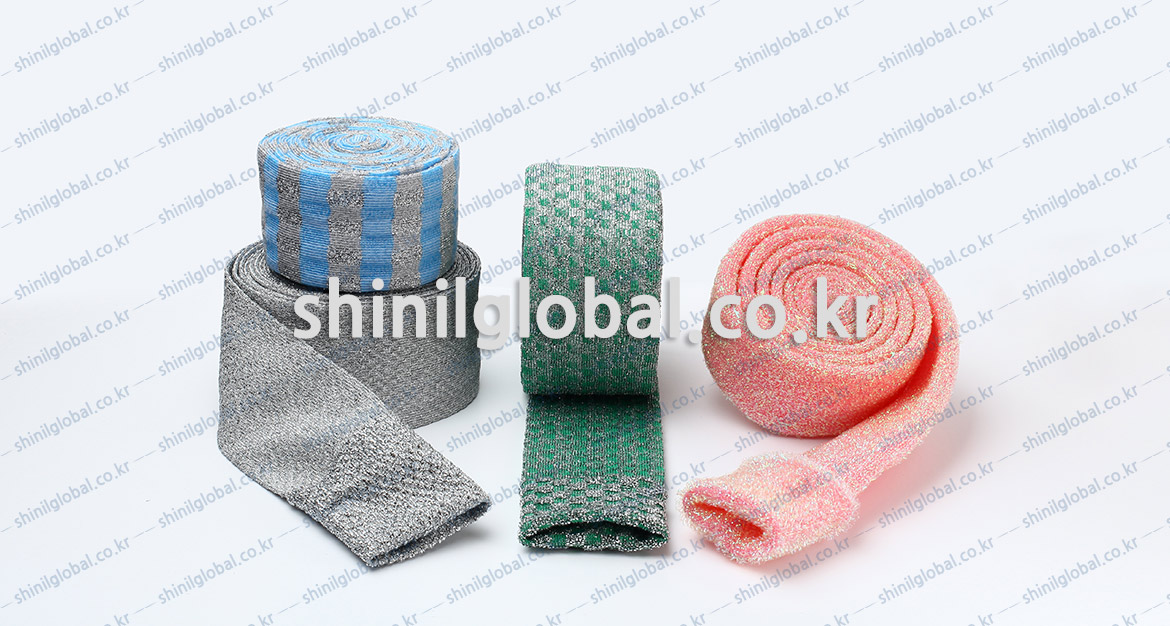 Metal Scrubbers and Kitchen Sponges for dish washing | SHINIL | SEMI PRODUCTS SPONGE ROLL
