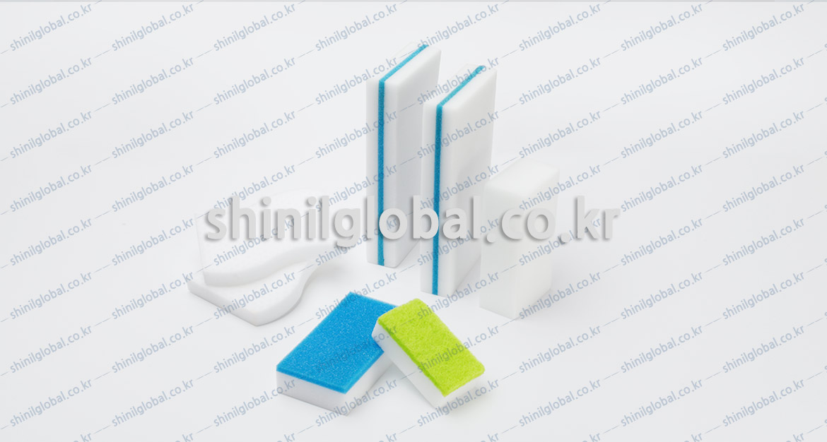 Metal Scrubbers and Kitchen Sponges for dish washing   SHINIL   Melamine (Magic Eraser)