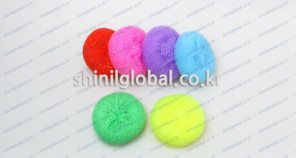 Metal Scrubbers and Kitchen Sponges for dish washing | SHINIL | Plastic Net Mesh Scourer